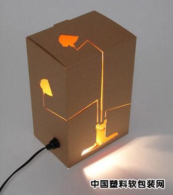 高尔夫球包装纸盒变身创意台灯(图)_软包装设计_技术